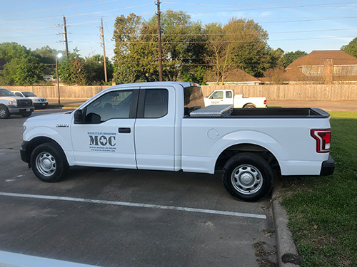 Municipal Operations & Consulting, Inc. staff will be working out of vehicles similar to this one with the MOC logo proudly displayed on the side.